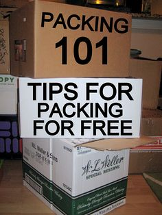 Where to find free boxes and how to pack with things your already have!