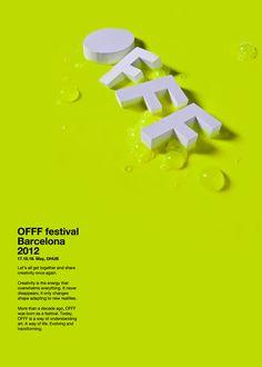 graphic design, festivals, luca monterosso, poster festival, monterosso wittmann, posters, festiv barcelona, typographi, offf festiv