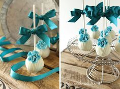 Fondant- The Wedding Cake Blog: Wedding Cake Pops