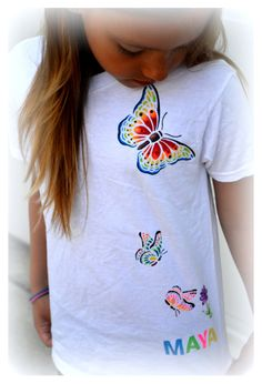 Custom Painted TShirt Painted TShirt Personalized by PricklyPaw, $15.25 #Marikan #SuperRT #ShopEtsy
