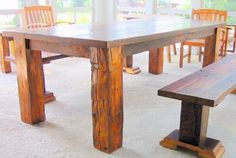 Barnwood Furniture from Old Barn Wood Boards--- my NEXT dining room set. Gorgeous!