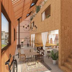 Interior Living Room Design Trends for 2019 - Interior Design Mediterranean Architecture, Tropical Architecture, Architecture Design, Small Space Living, Small Spaces, Living Spaces, Hemnes, Modern Japanese Interior, Houses