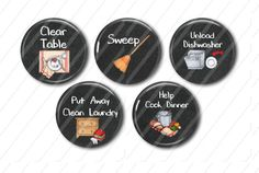 Are you looking for a way to not only Organize your childrens chores, but also create more of an interest? My chore magnets are a hit! I am