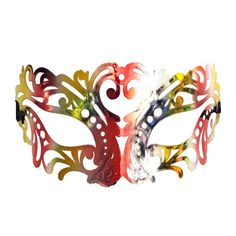 """Our jewel tones filigree masquerade mask with red and gold colours is guaranteed to """"wow"""" everyone at the parties this season with its bling, elegance and flair. This one size fits all Venetian style mask is the perfect addition to any carnival outfit. Phantom Mask, Opera Mask, Carnival Outfits, Hero Costumes, Halloween Masks, Jewel Tones, Costume Accessories, Venetian, Masquerade"""