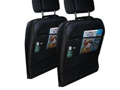 The Best Way To Protect Your Car Seats From Your Child's Wet Sandy Muddy Dirty Shoes and Feet || It Also Includes 2 Small Pockets to Help You Organize All The Little Things That Usually Make a Mess In Your Car || Premium Double Layer Material With Luxuriously Looking ABC Print On It || #lindentreebaby