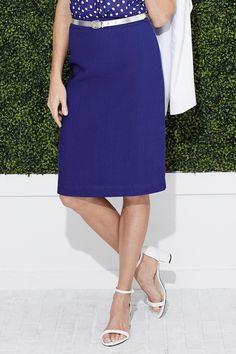 Linen-Blend Pencil Skirt: Classic Women's Clothing from #ChadwicksofBoston $24.99 - $34.99