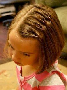Детская причёска с распущенными волосами