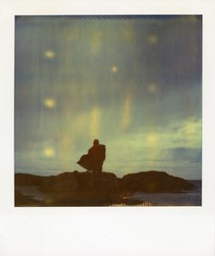 polaroid sx-70 camera expired time zero film human nature wind weather wild sweden. In People, Miscellaneous. On The Windy Cliff, photography by Bastian Kalous.