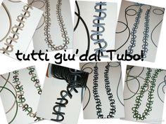long #necklaces in pvc #jewellery #bigiotteria #collane #bijoux  isaboobijoux.blogspot.it