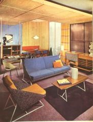 Louis Paolozzi furniture suite, France  1955