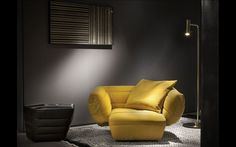 """Design: Vincenzo de Cotiis From the family """"Tactile"""" the armchair. Its design is expression of pure energy. Gold Interior, Luxury Interior, Interior Design, Interior Paint, Home Design, Baxter Furniture, Sofa Furniture, Sofa Chair, Furniture Ideas"""