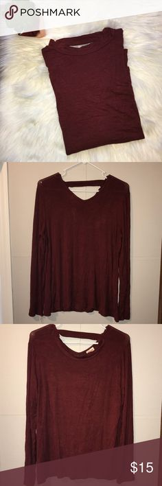 """NWT Mossimo Supply Maroon Blouse w/ Cut-Out Detail NWT Mossimo Supply Co Maroon Top with Cut-Out Detail I'm Back - size xl - bust 23"""" length 26.5 - 97% rayon 3% spandex Mossimo Supply Co. Tops Blouses"""