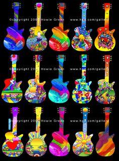 Guitar Hero Pop Art Guitars - Guitar Sculptures