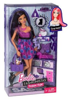 Barbie Fashionistas Swappin' Styles Sassy Doll and Pet