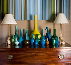 collection of vases.