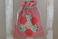 Bolsa de flores de algodón con apliques de por MissCocinita en Etsy