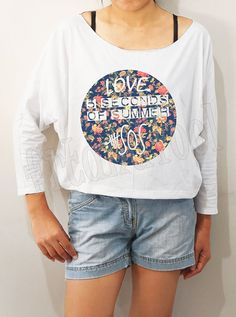 Love 5SOS Shirt Flower 5 Seconds of Summer Shirts by fitandfool, $20.00