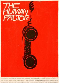 Saul Bass posters and storyboards in London. Saul Bass, The Human Factor, Poster, 1979 - image 1 Film Poster Design, Graphic Design Posters, Graphic Design Inspiration, Graphic Prints, Graphic Art, Milton Glaser, Illustration Photo, Illustrations, Music Illustration