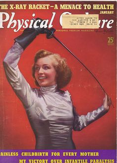 Fencing Cover girl January 1939