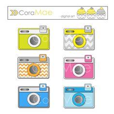 Camera, clip art, 6 PNG files