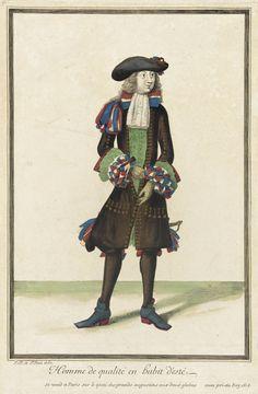 Recueil des modes de la cour de France, 'Homme de Qualité en Habit d'Esté' Jean Dieu de Saint-Jean (France, flourished 1675-1695) France, Paris, 1678 Prints Hand-colored engraving on paper