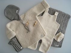 No pattern - just idea. Knitting For Kids, Baby Knitting Patterns, Baby Patterns, Knitted Baby Outfits, Baby Sweaters, Kind Mode, Baby Wearing, Doll Clothes, Knitwear