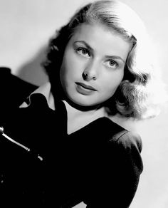 Ingrid Bergman... the woman was absolutely striking in her naturalness!  L.M. Ross