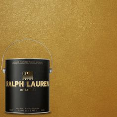 Ralph Lauren 1-gal. Parlor Gold Metallic Specialty Finish Interior Paint-ME138 at The Home Depot