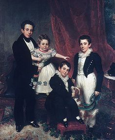 The Knapp Children, ca. 1833–34  Samuel Lovett Waldo (American, 1783–1861); William Jewett (American, 1792–1874)  Oil on canvas