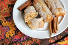 Cinnamon Sugar Apple Pie Eggrolls (im hoping these are like the old apple pies they used to sell at McDonalds!)