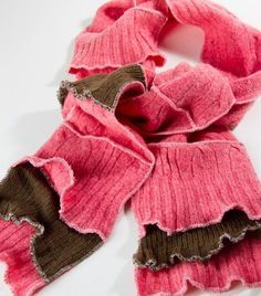 Very cute scarf - great way to recycle a few sweaters!