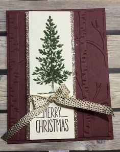 Items similar to Merry Christmas Gold on Etsy Stamped Christmas Cards, Homemade Christmas Cards, Christmas Cards To Make, Xmas Cards, Homemade Cards, Handmade Christmas, Christmas Diy, Christmas Decorations, Merry Christmas