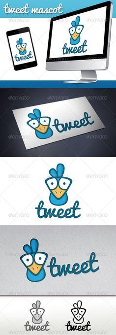 Tweet Bird Mascot Logo