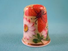 Thimble Bone China with Daisy and Butterfly