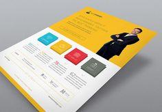 InDesign Corporate Flyer: Flat Design
