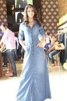 vestido jeans longo - Bing Imagens