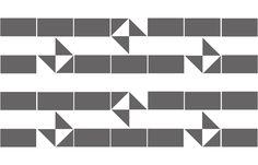 Banderoles 4 (tiles).  Ligia de Medeiros. 2014