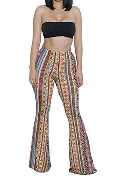Women's Palazzo Tribal Aztec Hippie Floral Pants Leggings Tops Sports Outfits M - Brought to you by Avarsha.com