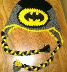 Batman inspired Crochet hat by chandra