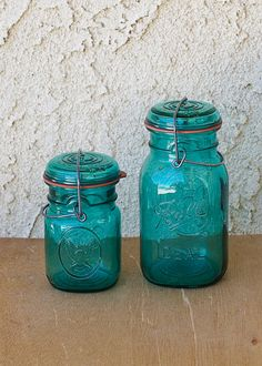 I like the mason jars that still have these lids