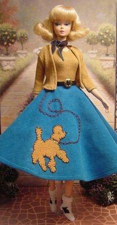 Poodle skirt for Barbie