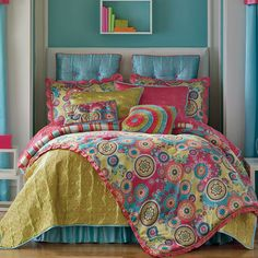 My daughters new bedding! Love the colors!