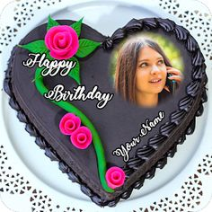 Happy birthday cake with name and photo edit online free Happy Birthday Cake Writing, Happy Birthday Mama, 9th Birthday Cake, Happy Birthday Wishes Cake, Funny Birthday Cakes, Best Birthday Cake Images, Happy Birthday Cake Pictures, Birthday Cake With Photo, Congratulations Cake