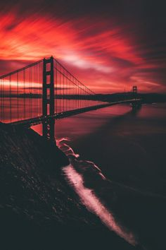 Yesterday's sunrise was epic to say the least and I got to enjoy it with some good company by jude_allen Beautiful Scenery Pictures, Beautiful Landscapes, Amazing Pictures, Golden Gate Bridge Painting, Sunset Wallpaper, San Fransisco, Scenic Photography, California Travel, Sunrise