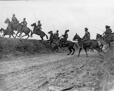"""Sikh Cavalrymen, Pys, France 1914."""