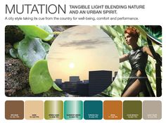 APLF Color & Material Trends Spring/Summer 2013 | TREND II: MUTATION | Fashion Trendsetter  Colors  A range of textured colors, never really natural. A new range of greens to punctuate the new neutrals, beiges, browns, khaki and caramel.
