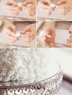 DIY fondant roses! (tutorial)  #white #diy_crafts #food_drink