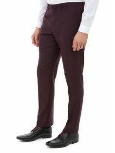 BURGUNDY SKINNY FIT SUIT TROUSERS Trouser Suits, Trousers, Pants, Skinny Fit Suits, Burton Menswear, Burgundy, London, Fitness, Fashion