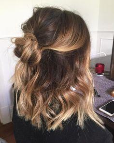 Easy Casual Hairstyles, Sweet Hairstyles, Latest Hairstyles, Cute Hairstyles For Medium Hair, Cute Medium Length Hairstyles, Medium Hair Length Styles, Shoulder Length Hairstyles, Medium Length Ombre Hair, Medium Balayage Hair