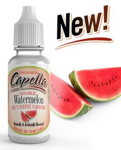 Capella Flavor Drops Double Watermelon Concentrate bottle for sale online Flavor Drops, Low Calorie Drinks, Berry Juice, Sweet Watermelon, Bottles For Sale, Cocktails, Flavored Milk, Vegan Friendly, Food Grade